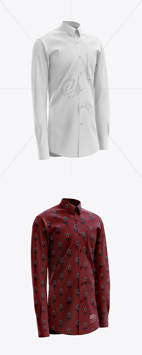 Men's Shirt mockup (Right Half Side View) 23662