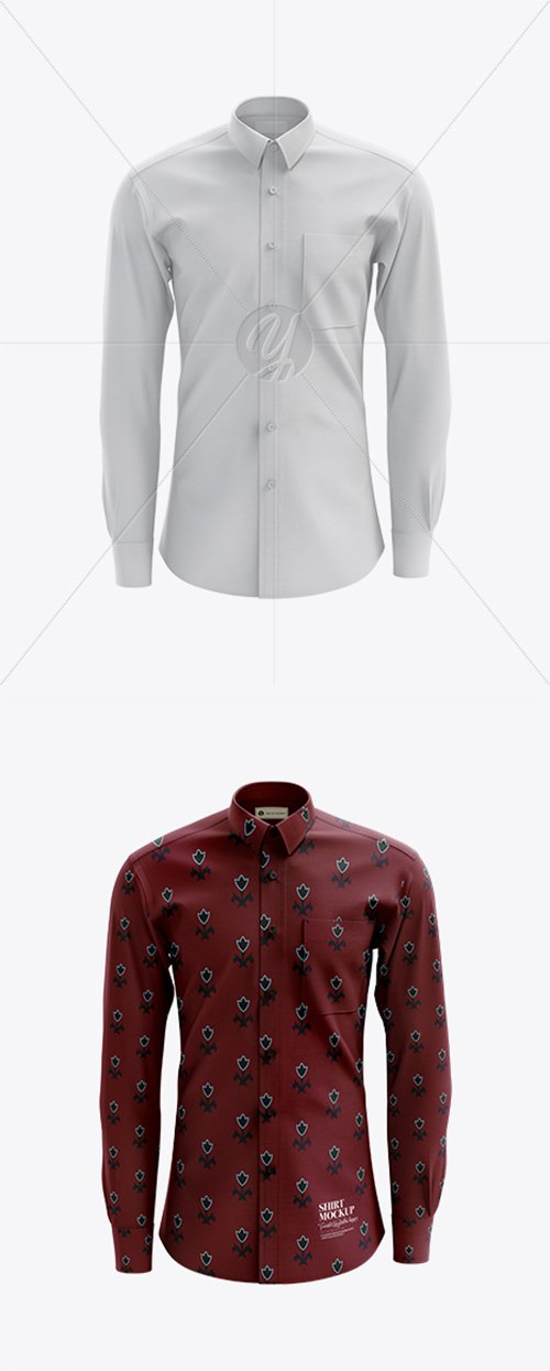 Men's Shirt mockup (Front View) 23570 TIF