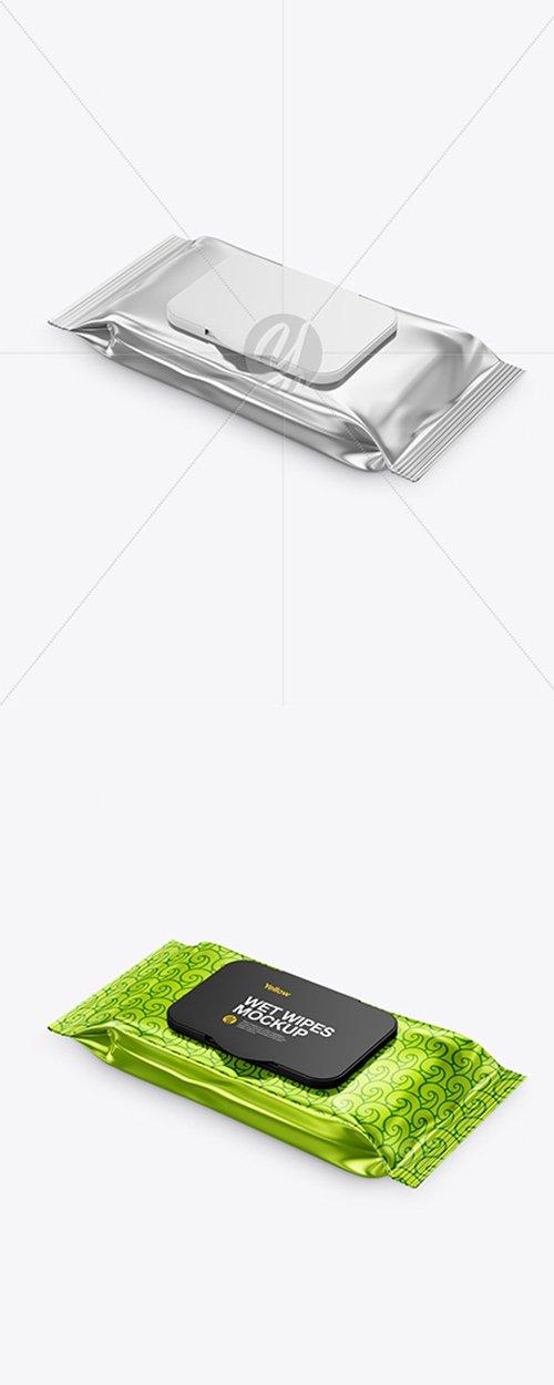 Metallic Wet Wipes Pack With Plastic Cap Mockup 42072 TIF