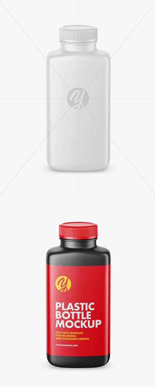 Matte Plastic Bottle Mockup - High-Angle Shot 42369 TIF