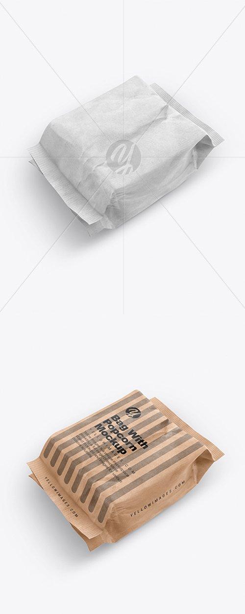 Kraft Bag With Popcorn Mockup 38459 TIF