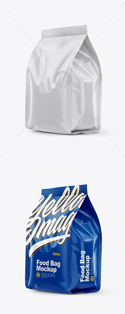 Glossy Food Bag Mockup 38645 TIF