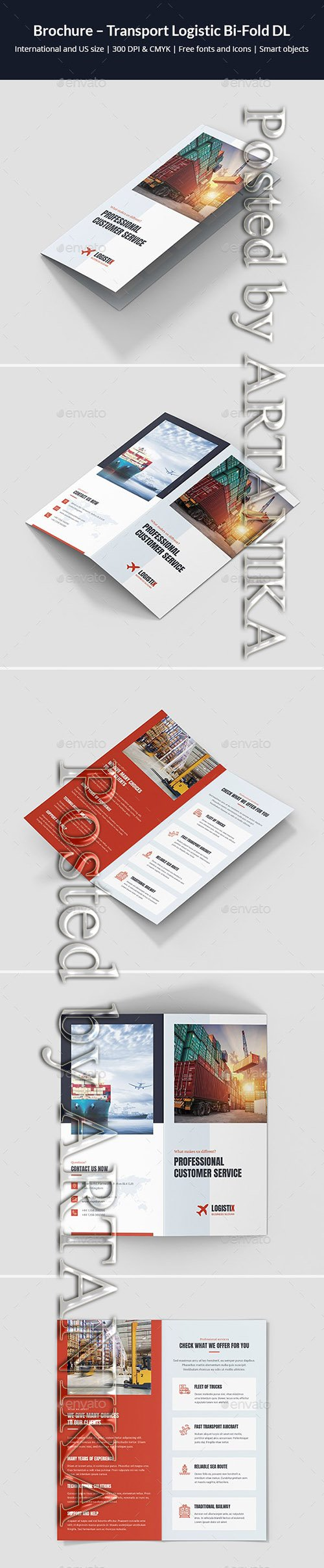 GraphicRiver - Brochure Transport Logistic Bi-Fold DL 21808591