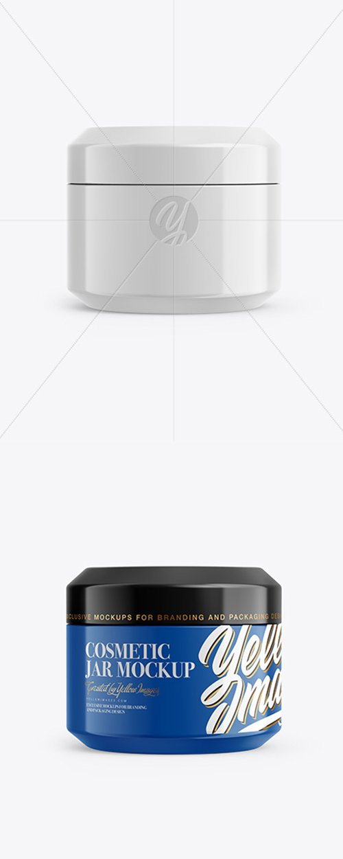 Glossy Cosmetic Jar Mockup 37900 TIF