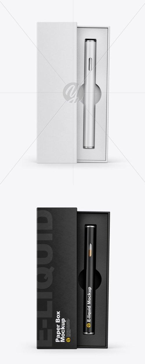 Opened Box w/ Vape Pen Mockup 41466 TIF