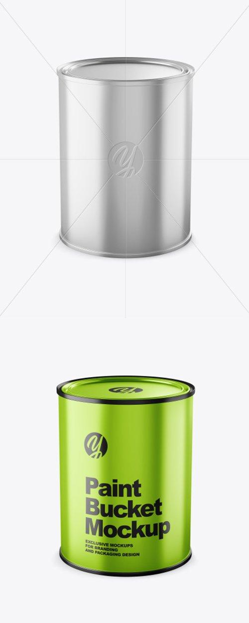 Metallic Paint Bucket Mockup 38352 TIF