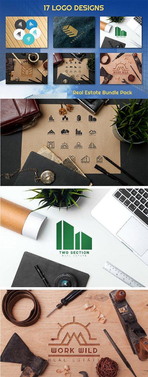 17 Real Estate Vector Logo