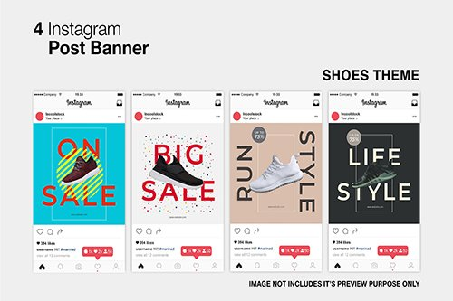 Shoes Instagram PSD Post