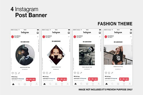 Fashion Instagram PSD Post