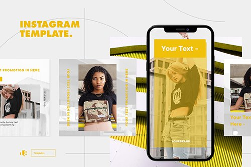 Instagram PSD and PNG Template - HERG4BT