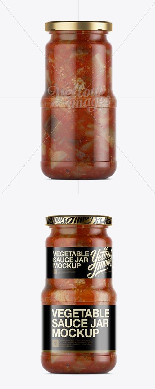 Canned Vegetable Sauce Jar Mockup 11570 TIF