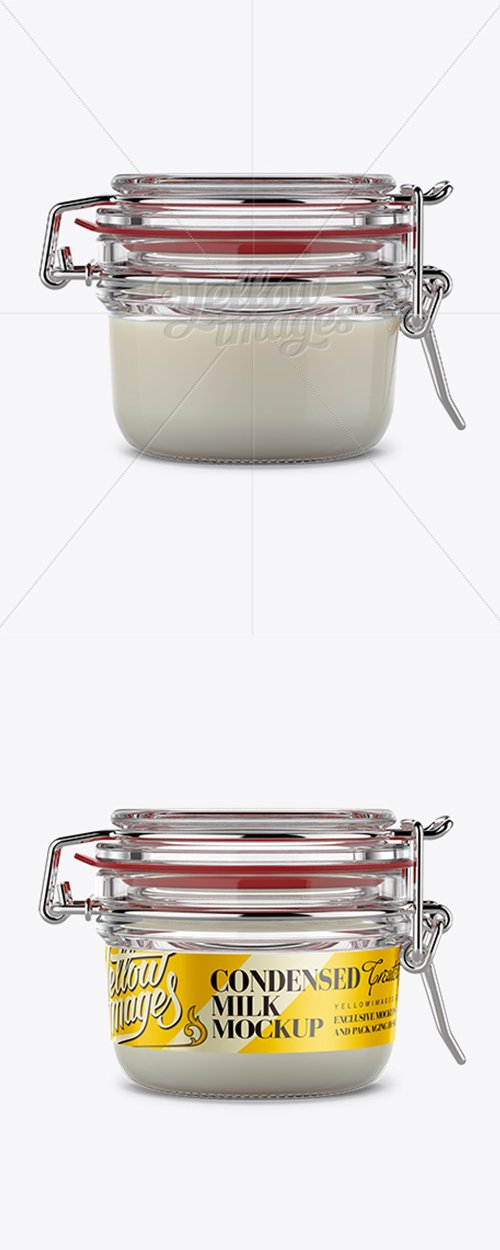 Round Glass Jar with Clamp Lid Mockup 11475 TIF