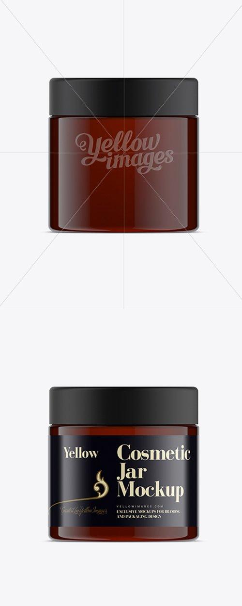 250ml Amber Plastic Cosmetic Jar Mock-Up 11499 TIF