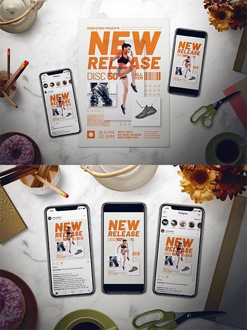 Fashion PSD and AI Flyer Set