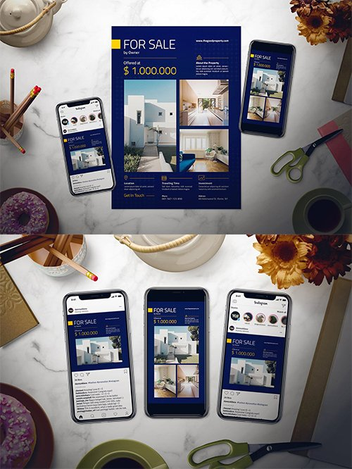 Real Estate PSD and AI Flyer Set