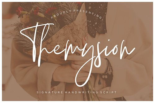 Themysion Signature Handwriting  OTF, TTF