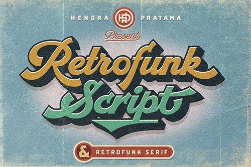 Retrofunk - Script & Serif  OTF