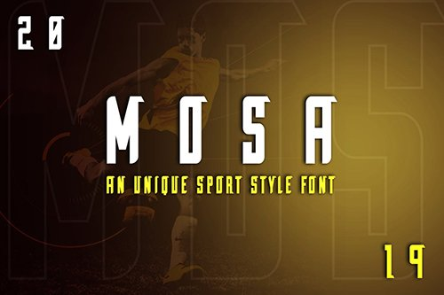 Mosa Exclusive Display Font  OTF, TTF