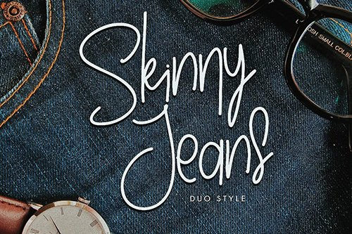 Skinny Jeans - Fashion Handwriting Font  OTF, TTF