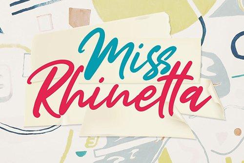 Miss Rhinetta Font OTF, TTF