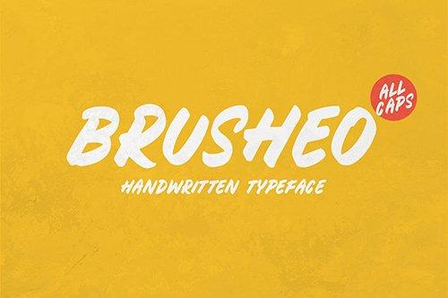 BRUSHEO Font OTF, TTF