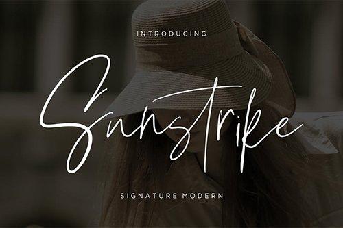 Suntrike Signature Modern OTF, TTF