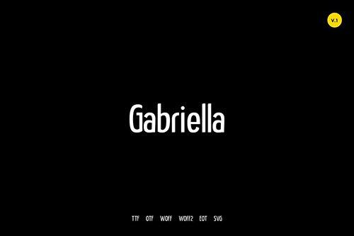 Gabriella - Modern Typeface + WebFonts