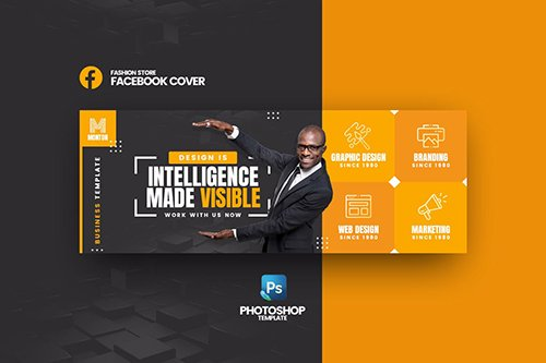Monton Business Facebook Cover Psd Template Nitrogfx