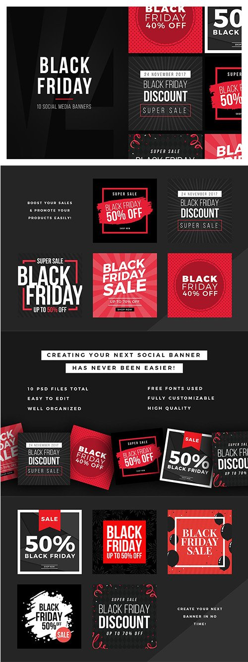 Black Friday Social Media Banners V4