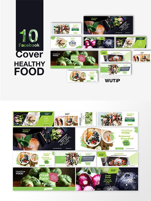 10 Facebook Cover - Healthy Food