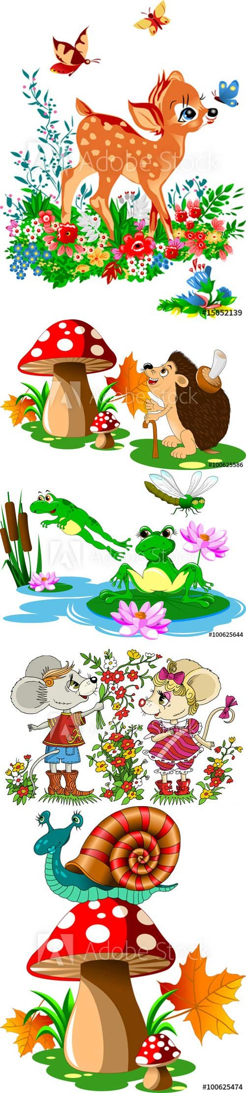 Cartoon vector illustration with animals