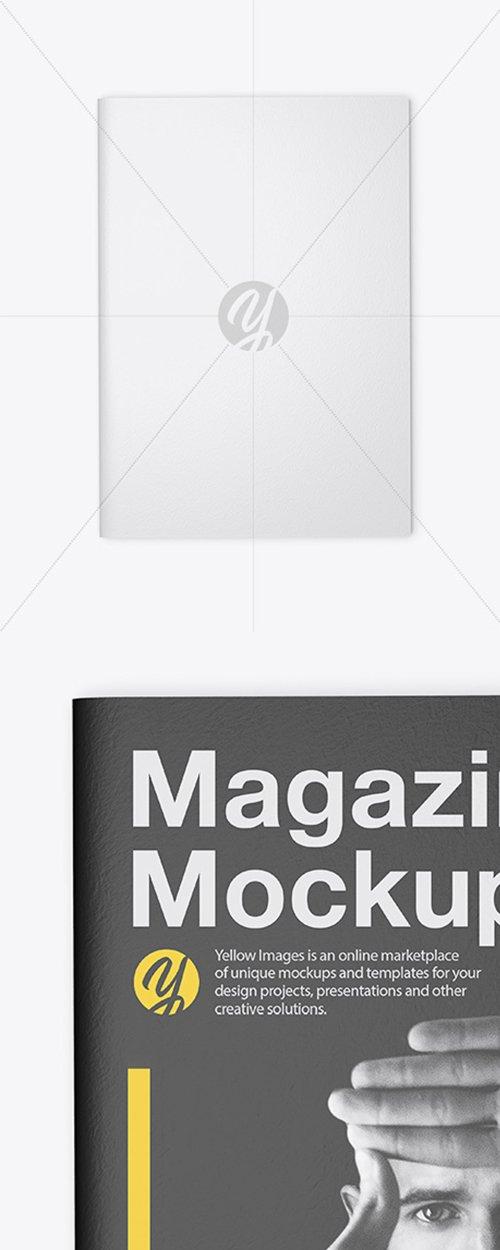 Textured A4 Magazine Mockup 44123 TIF