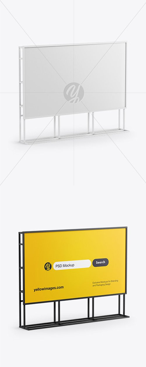 Banner Stand Mockup - Half Side View 43201 TIF