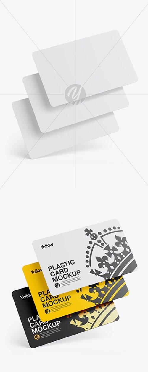 Three Plastic Cards Mockup 42865 TIF