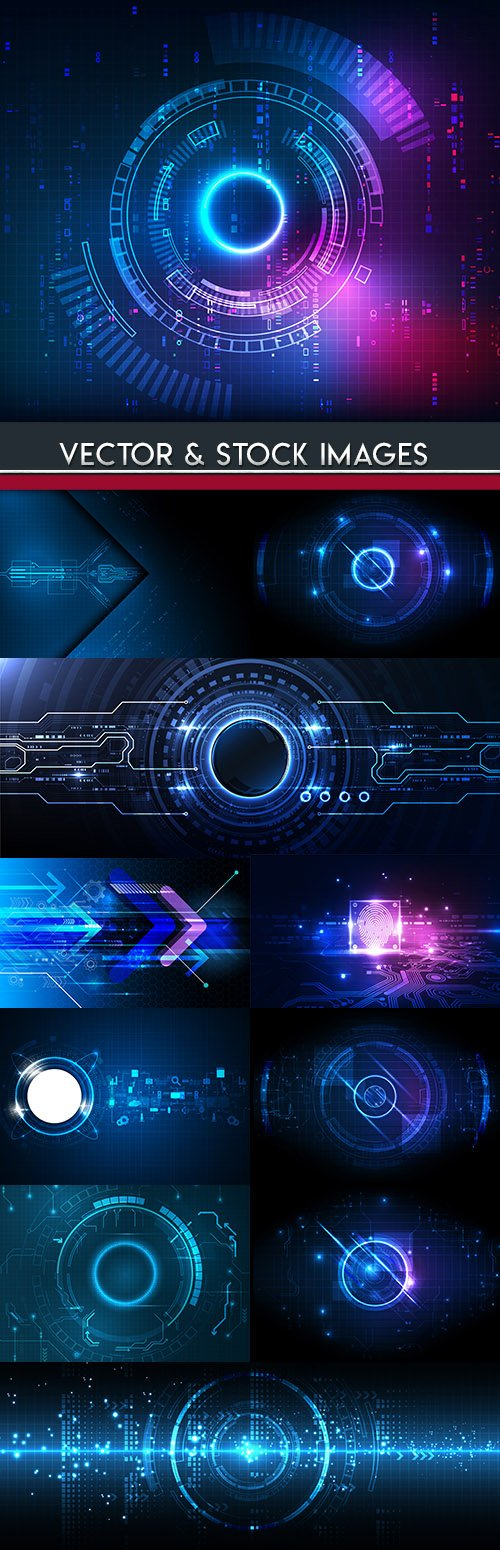 Blue light futuristic technology background digital