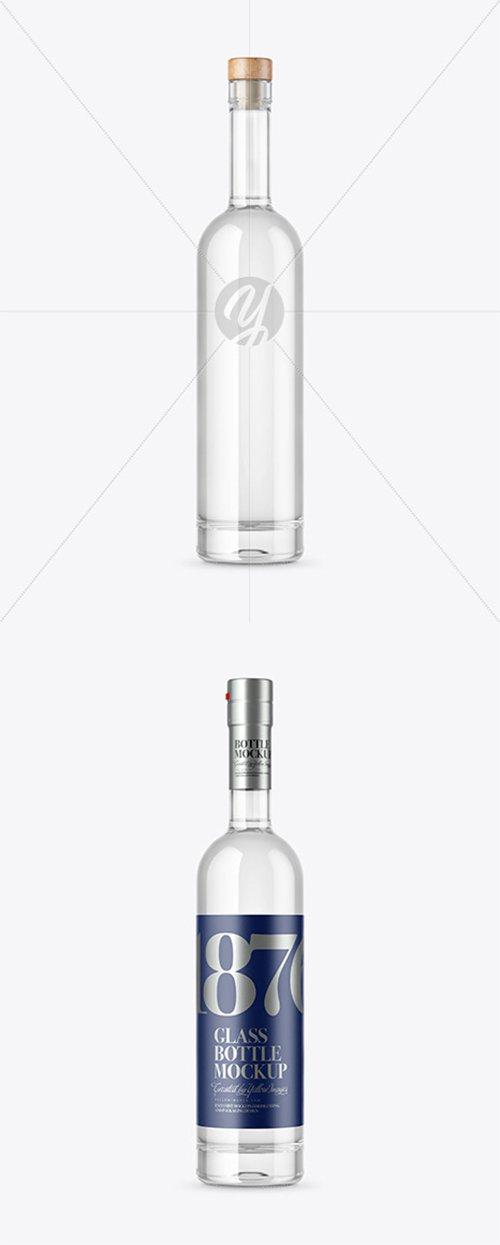 Clear Glass Vodka Bottle Mockup 45172 TIF