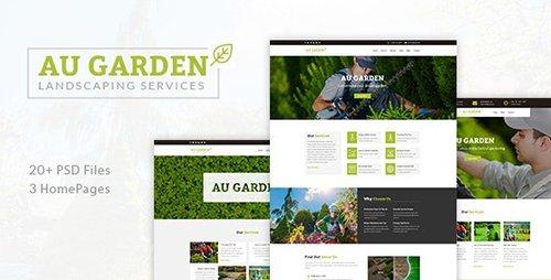 Au Garden - Landscaping & Gardening PSD Template 21534794