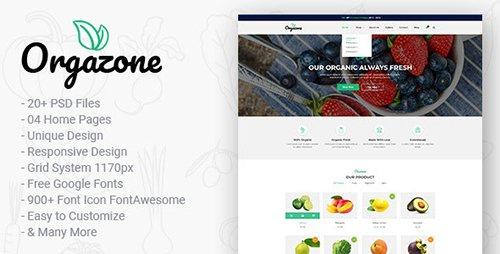 Orgazone | Responsive Organic Store & Farm PSD Template 21355834
