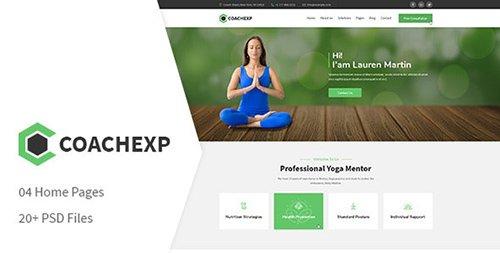 Coachexp - Coach Yoga and Mentor PSD Template 22788171