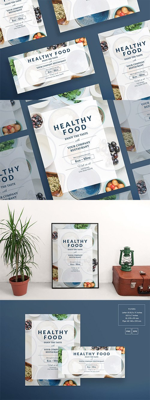 Healthy Food Flyer and Poster Template