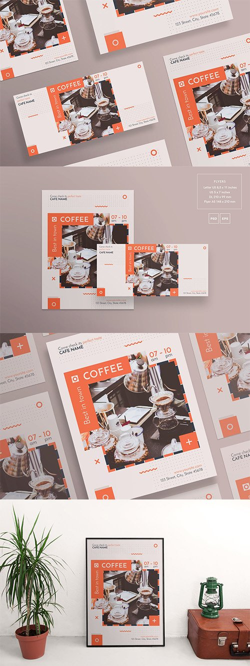 Coffee Shop Flyer and Poster Template