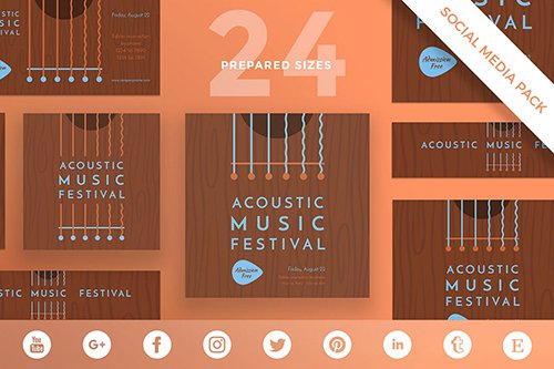 Music Festival Social Media Pack Template