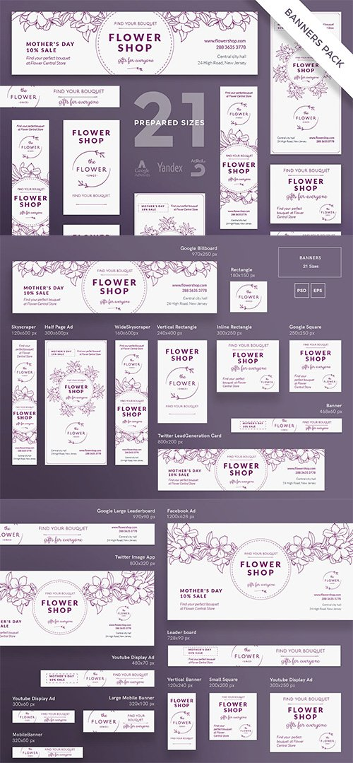 Flower Shop Banner Pack Template