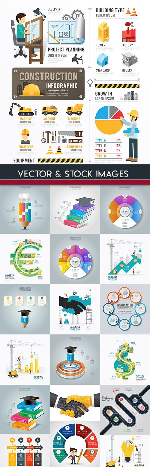 Business infographics options elements collection 73