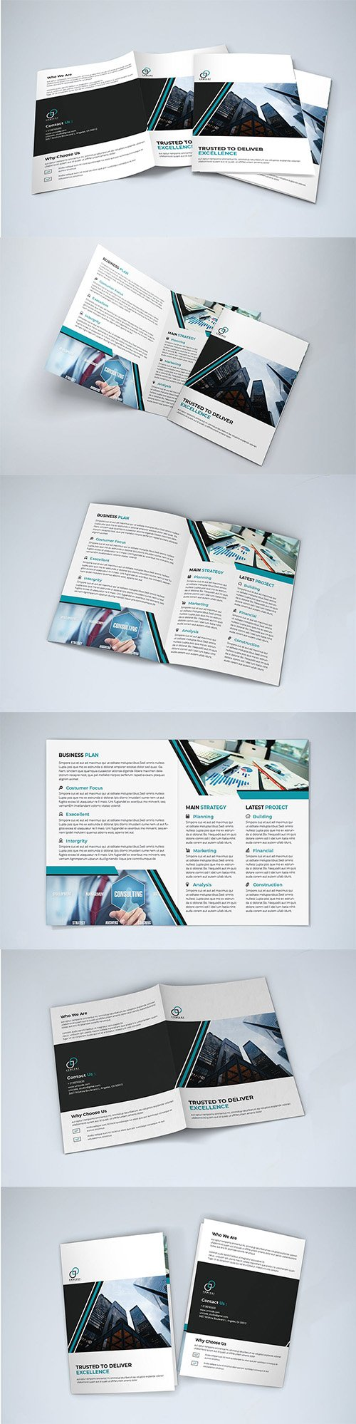 Bifold Business Indesign Brochure