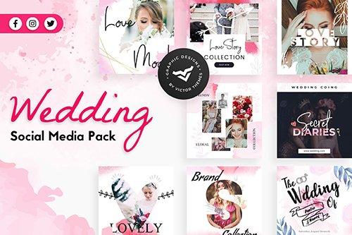 Wedding Social Media PSD Templates