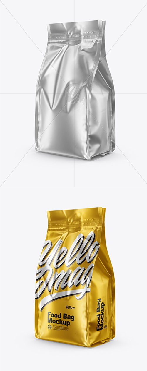 Matte Metallic Food Bag Mockup 43274 TIF
