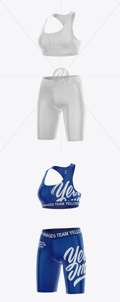 Womens Fitness Kit Mockup - Half Side View 42818 TIF