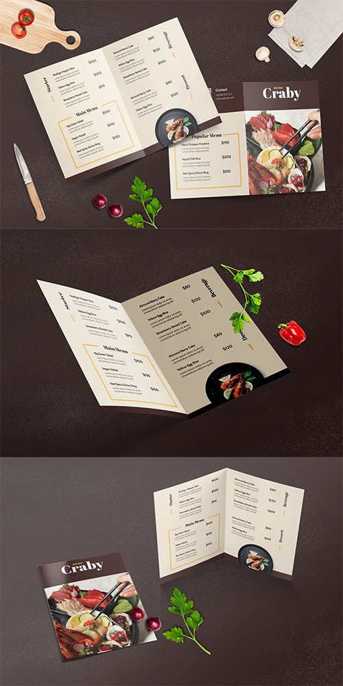 Bifold Restaurant Menu Template