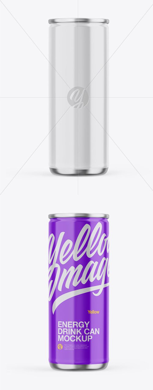 Metallic Can W/ Glossy Finish Mockup 45208 TIF